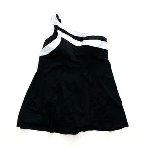INCHES AWAY Women's Blk One Shoulder Swimsuit 18w